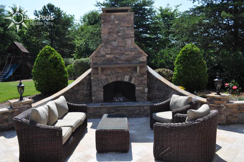 Featured Outdoor Fireplaces By Ozone Pools Outdoor Living