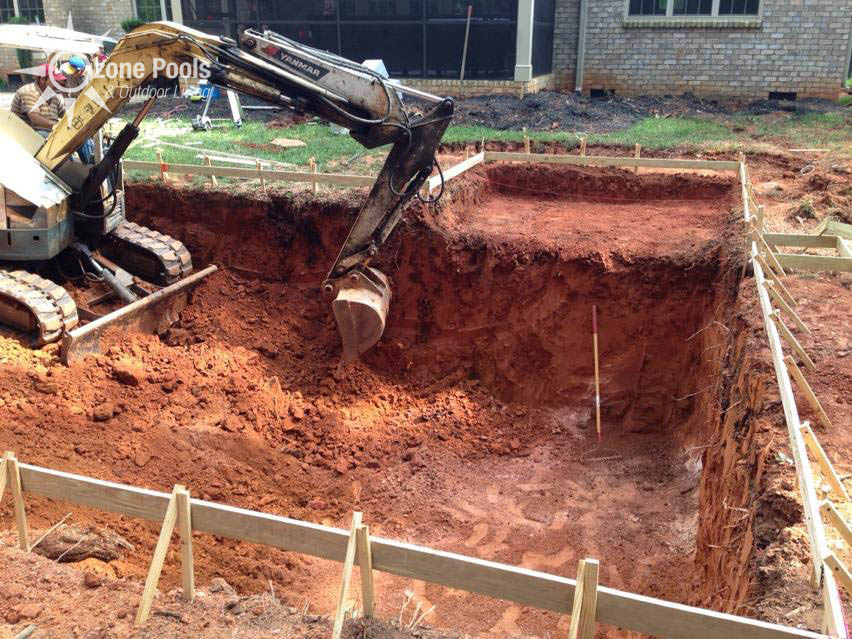Swimming Pool Excavating : What to expect ozone pools step by construction process